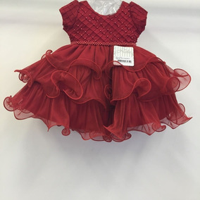 Vestido Bebê Infantil Luxo Natal P M G