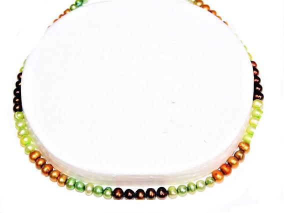 Collar Mulicolor Perla Cultivada 43 Cm