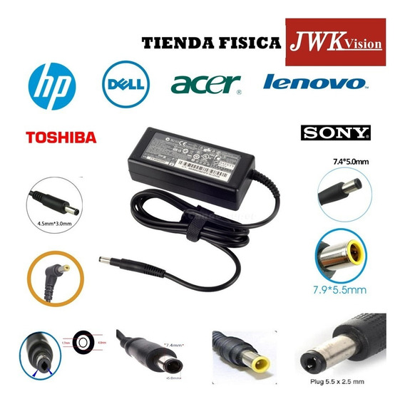 Cargador Laptop Hp Dell Toshiba Acer Lenovo Sony Apple Jwk