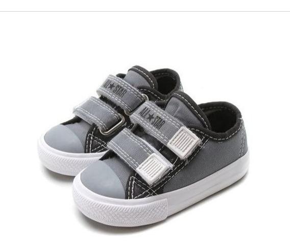 Tênis All Star Velcro Infantil Cinza Escuro Ck07100002