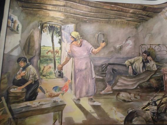 Poster Antiguo Caja Nacional De Ahorro Postal Nº 12