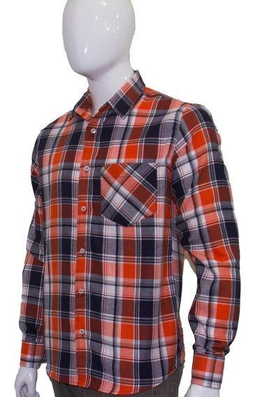 Camisa Flanela Xadrez Lenhador Masculina Manga Longa Fit
