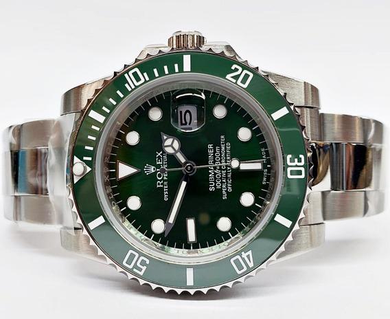 Reloj Rolex Submariner Verde Hulk Acero Automatico