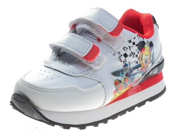 Zapatilla Baby Running Mickey Race Abrojo Blanco