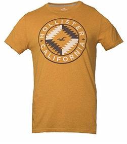 Camiseta Hollister Gráfica Amarillo Xxl