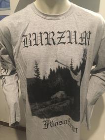 Burzum Filosofem Grey Long Sleeve T-shirt Xl Merch Official