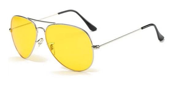 Lentes Gafas Unisex Aviador Retro Amarillas De Sol Hipster