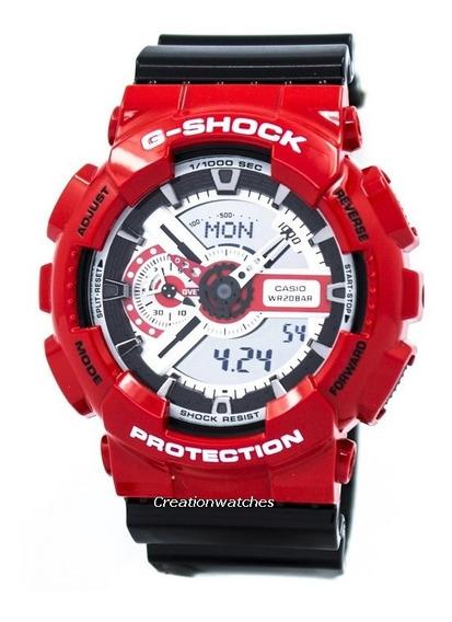 Relógio Casio G-shock Ga-110rd Vermelho Com Preto