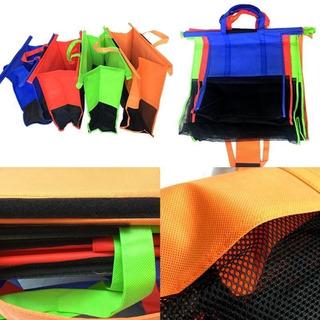 Kit De 4 Sacolas Reutilizáveis Para Carrinho Do Mercado Eco