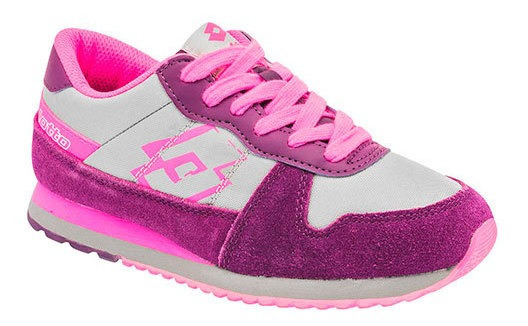 Tenis Lotto Mujer H9090 Color Gris Talla 22-26 -shoes