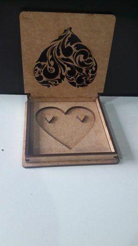 Caixa Porta Aliança De Coração Personalizado Top Promoção C1