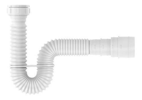 Sifão Universal Extensível Lavatório Tanque Pia Branco