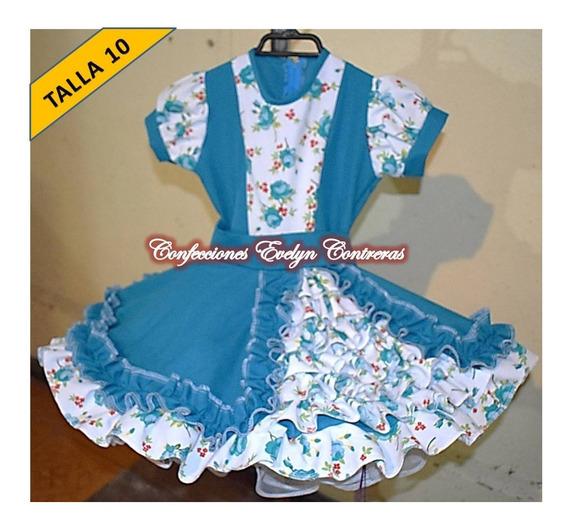 Vestido Vestidos Huasa China Cueca T/ 10