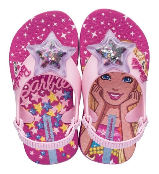 Chinelo Barbie Baby - Ref. 25928 - Rosa