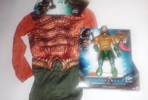 Disfraz Aquaman Para Niño Dc Comics Talla 4-10 + Aquaman