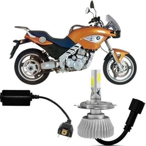 Super Led Moto Bmw F 650 Cs Lampada 6000k H4 2d 2200 Lúmens