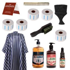 Kit Barbeiro Ferramentas E Cosméticos Para Barbearia