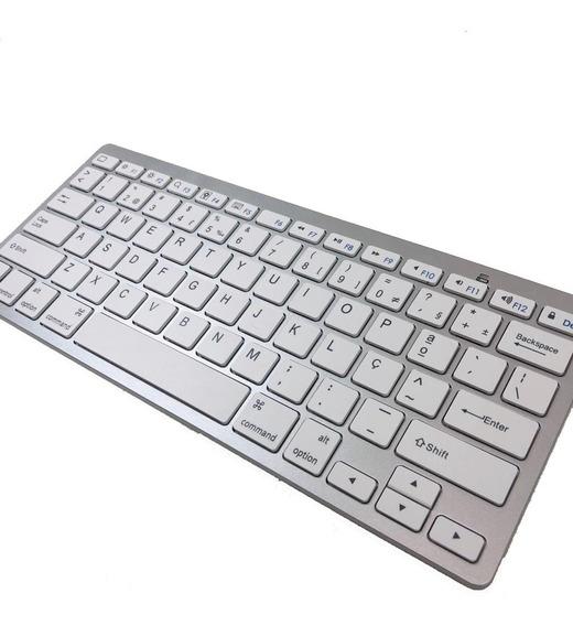 Teclado Bluetooth Abnt Compativel Com Apple E Pc - Novo
