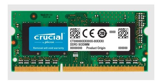 Memoria Ram Ddr3 8gb 1x8gb Crucial Ct102464bf160b