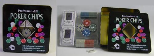 Juego Casino Poker Chips De 100 Fichas De Lujo Medellin