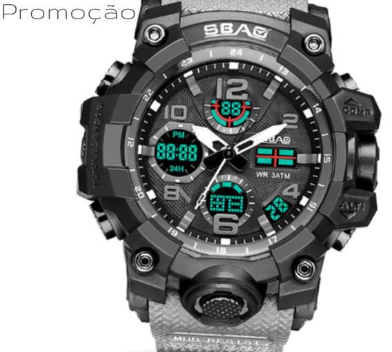 Relógio Masculino Esportivo Militar Shock Digital Promoção