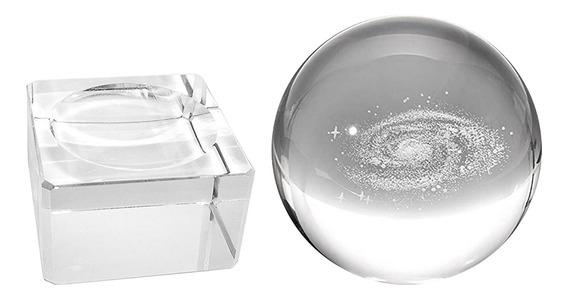 Galaxy Glass Crystal Ball Com Suporte Fotografia Adereços Cr