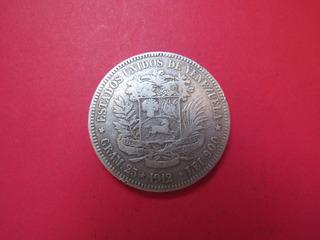 Moneda De Plata Venezuela 1/2 Bolivar 1912