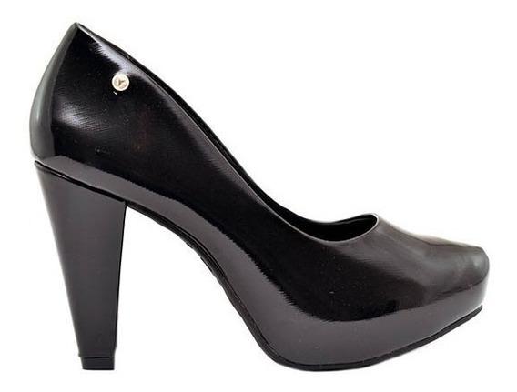 Zapatos Clásico Mujer Charol Negro Taco Cono Plataforma