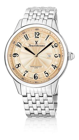 Relógio Pulso Jean Vernier Analógico Suíço Masculino Jv01127
