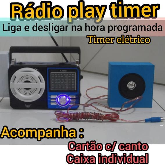 Radio Play Timer Curió Clássico C/ Cartões De Memória