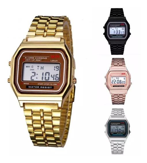 Relógio Vintage Retro Dourado Prata Rose Preto **promoção**