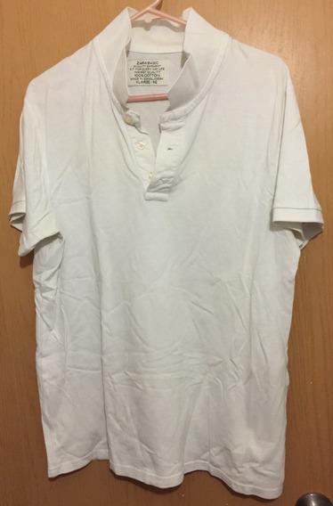 Playera Polo Para Hombre Zara Blanca Usada
