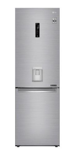 Imagen 1 de 7 de Heladera inverter no frost LG GB37SPP platinum silver con freezer 336L 127V