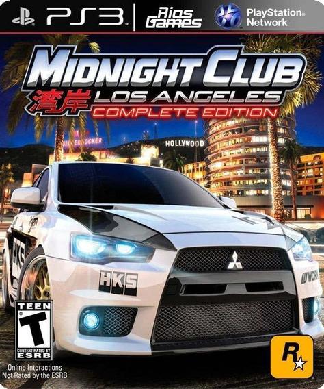 Midnight Club Los Angeles Ps3 Via Psn Original