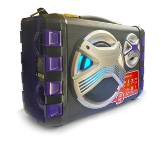 * Parlante Karaoke Winco W211 Con Microfono 40 Watts Fm Bt *