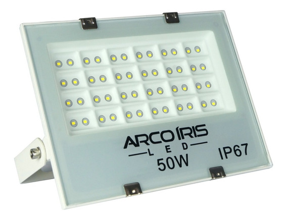 Refletor Holofote 50w Microled Multifocal Branco Frio Ip67