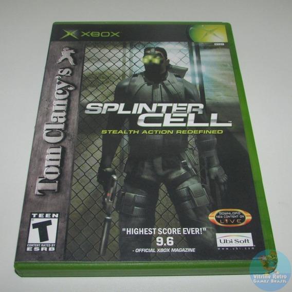 Splinter Cell Xbox Classico Original Americano Completo !!