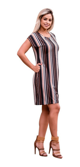 Vestido Feminino Midi Festa Social Soltinho Moda Evangelica Com Bolso Super Confortavel