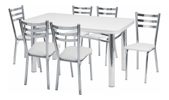 Conjunto De Mesa Adriana Com 6 Cadeiras Jantar-441/340-x