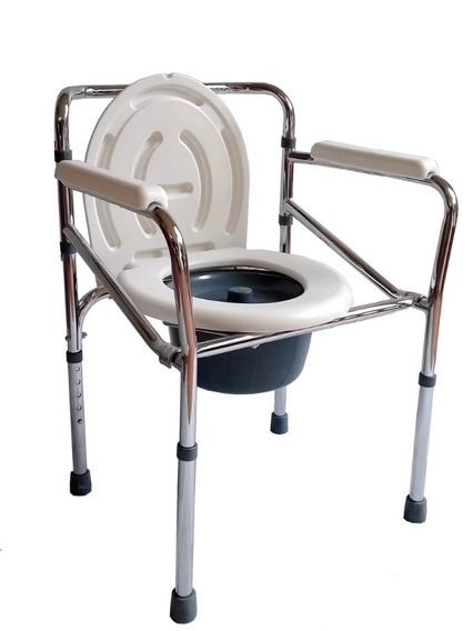 Silla Baño Discapacitado - Cómodo Plegable Cromado