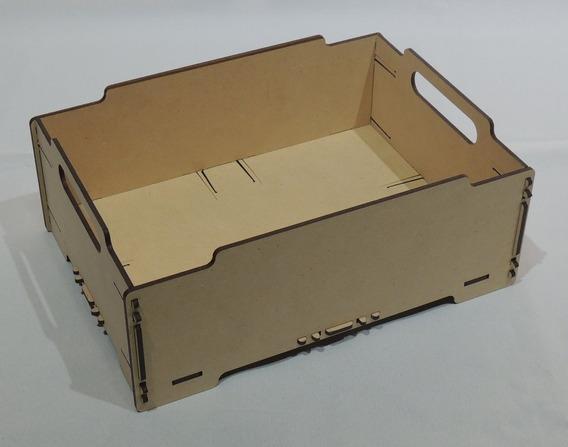 Bandeja Caja Organizador Apilable Mdf / Fibrofacil - 3 Un.