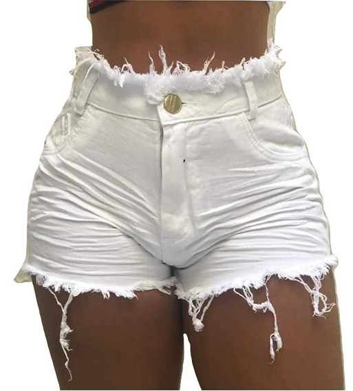 Promoção Só 49.99 Shorts Jeans Cintura Alta Hot Pant Paniqet