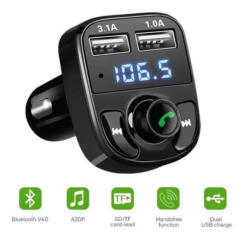 Imagem 1 de 5 de Carregador Carro X8 Bluetooth Veicular Mp3 Rádio