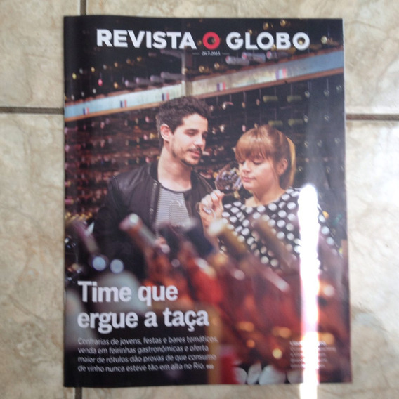 Revista O Globo 26.7.2015 Vinho Em Alta No Rio De Janeiro