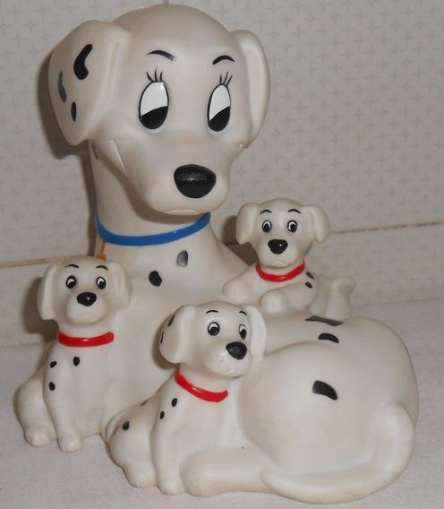 Disney 101 Dálmatas Cofrinho Cadela Mãe Prenda E 3 Filhotes