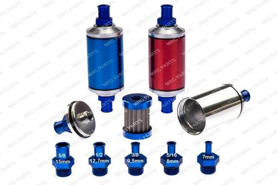 Filtro Combustível Lavável Alumínio C/ Elemento Em Inox
