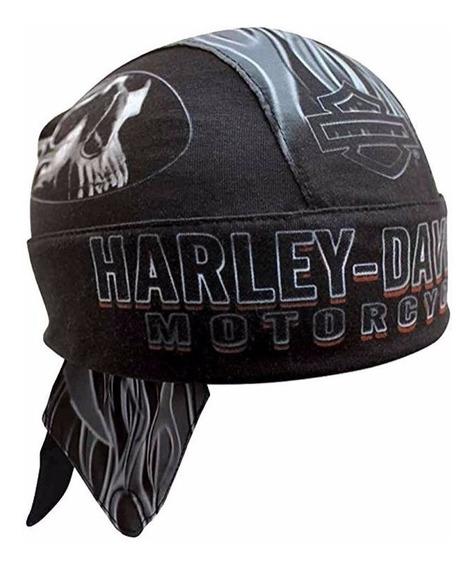 Harley Davidson Bandana Skull Cap Importada Eua Original