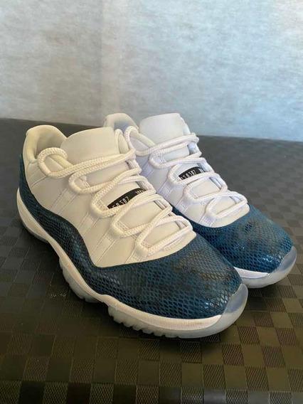 Nike Air Jordan 11 Lo Blue Snakeskin