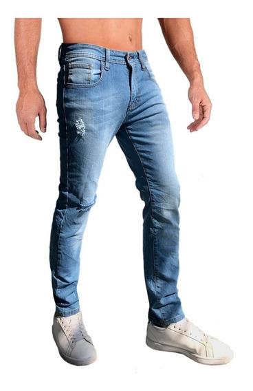 Jeans Pantalón De Mezclilla Caballero Skinny Stone Claro.