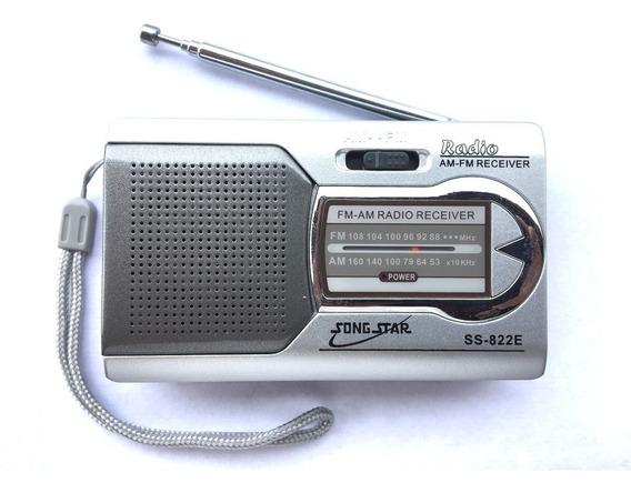 Rádio Bolso Portátil Stereo Am Fm Song Star Ss-822e
